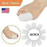 Gel Toe Caps Toe protectors Toe Sleeves, NEW MATERIAL, for Blisters, Corns, Hammer Toes, Ingrown Toenails, Toenails Loss, Friction Pain Relief and More (10 PCS FOR BIG TOE)