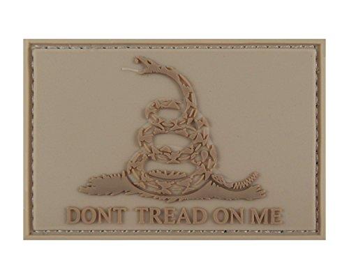 Dont Tread on Me Gadsden 3D PVC Tactical Velcro Morale Tags Patch - Defense Daniel Oakley