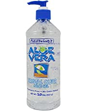 Fruit of the Earth Aloe Vera Gel Crystal Clear 20 oz. No Alcohol (Case of 6)