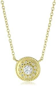 Freida Rothman Hamptons Collection Gold Solitaire Drop Necklace