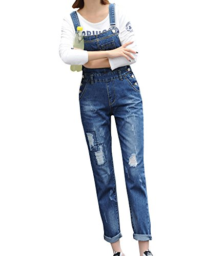 Denim Pantalones Jeans Vaqueros De Mujer Elasticos Azul
