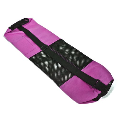 27 IN X 7 IN PINK CANVAS YOGA MAT BAG