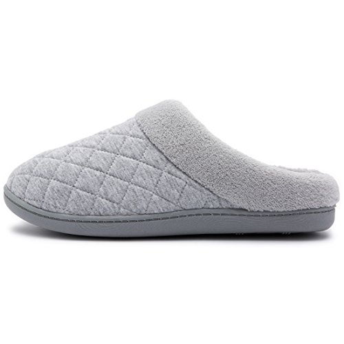 Femme HomeTop Chaussons Gris Chaussons pour HomeTop gIqUWqn8