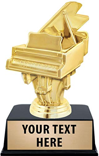 Crown Awards Piano Trophies with Custom Engraving, 6