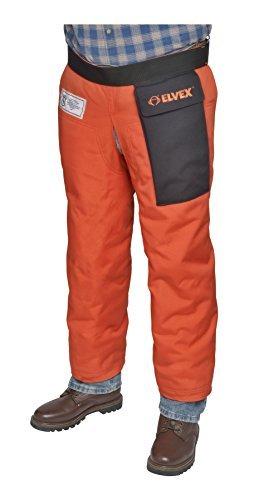 Elvex JE-9139Z ProChapsZ 1000 Denier Wrap Around Calf Protection with Zipper, 39'' Length from Waist, Orange