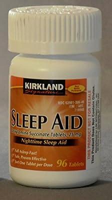 Kirkland Sleep Aid Doxylamine Succinate 25 Mg - 96 Tablets