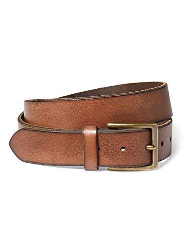 Eddie Bauer Men's Khaki Leather Belt, Oak Regular -