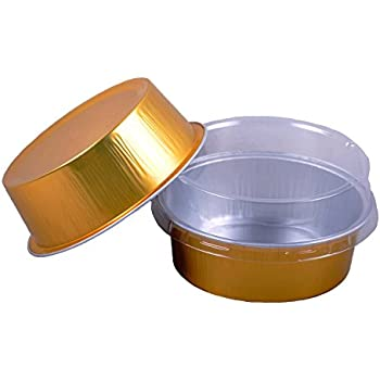 Cutequeen 130ml Golden Aluminum Foil Cups FOR Muffin Cupcake Baking Bake Utility Ramekin Cup (100pcs)