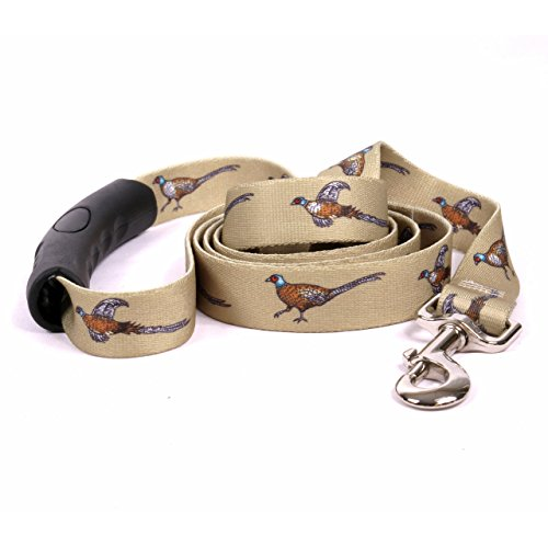 (Yellow Dog Design Pheasants EZ-Grip Dog Leash with Comfort Handle, Large-1