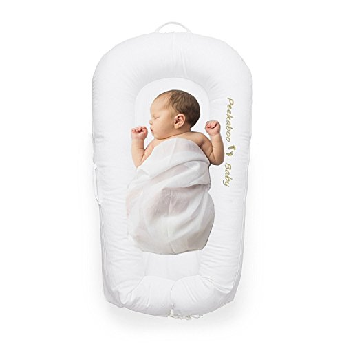 Peekaboo Baby All in One Baby Lounger Nest Crib Portable Travel Bassinet Co-Sleeper Tummy Time 0-9 months by Peekaboo Baby
