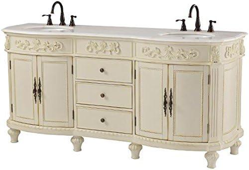Home Decorators Collection Chelsea Double Bath Vanity 35 Hx72 Wx22 D Antique White Amazon Com