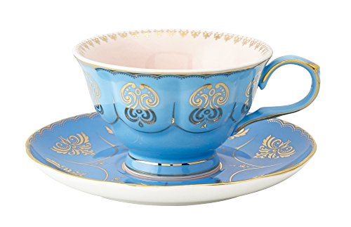 Pretty Little Teacups Cup and Saucer Set Blue and Pink in Gift - Blue Saucer Teacup