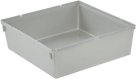 keeeper Recipiente organizador, Combinable con otros recipientes, Plástico resistente (PP), 15 x 15 x 5 cm, Pepe, Plateado: Amazon.es: Hogar