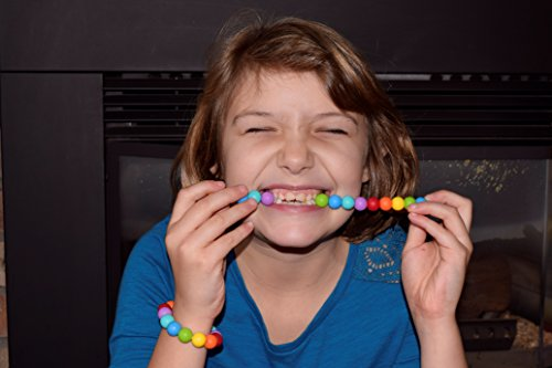 Sensory Oral Motor Aide Chewelry Necklace - Chewy Jewelry for Sensory-Focused Kids with Autism or Special Needs - Calms Kids and Reduces Biting/Chewing - Rainbow Necklace (No Knots) by Munchables Chewelry (Image #2)