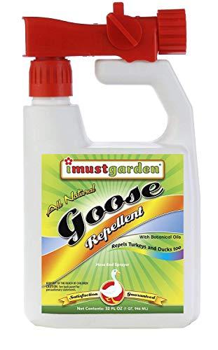 I Must Garden Goose Repellent Concentrate - 32oz Hose End Sprayer (Geese, Turkey, Ducks)