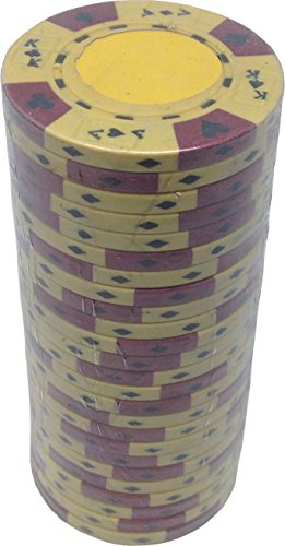 (Poker Chips - (25) Yellow Ace King 14 g Clay Composite)