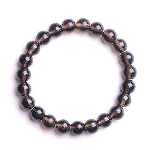 Agate Quartz Bracelet (Natural Smoky Quartz Gemstone Beaded Bracelet Chakra Reiki Healing Stretch Bracelet 7 ''204703119)