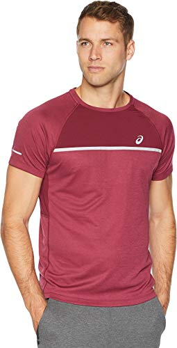 ASICS Men's Short Sleeve Top, Cordvan, Large