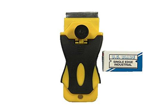 Pro Razor Scraper with 5 U.S. Blade Single Edge Metal - Blade Holder Scraper