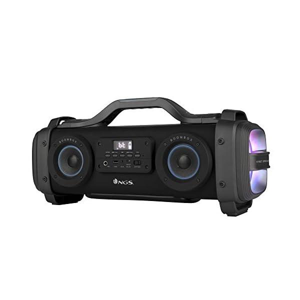 NGS Street Breaker - Bombe Portable de 200 W avec Technologie True Wireless et Bluetooth (USB/MicroSD/AUX-in). Couleur : Noir. 1