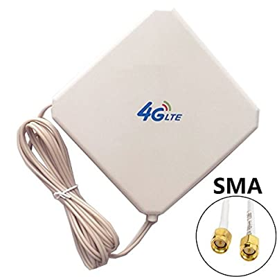 BOLS SMA 4G LTE Antenna Dual Mimo 35dBi High Gain Network Ethernet Outdoor Antenna Signal Receiver Booster Amplifier for Wifi Router Mobile Broadband
