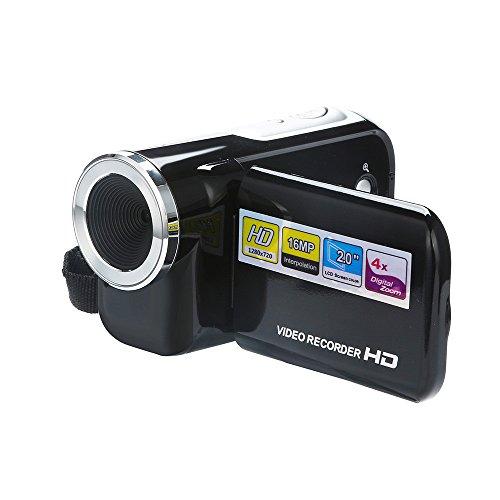 Ranoff Portable Digital Camera Video Camcorder HD 1080P Handheld Digital Camera 4X Digital Zoom (Black)