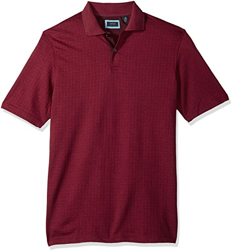 Arrow Men's Big Jacquard Short-Sleeve Polo, Chocolate for sale  Delivered anywhere in Canada