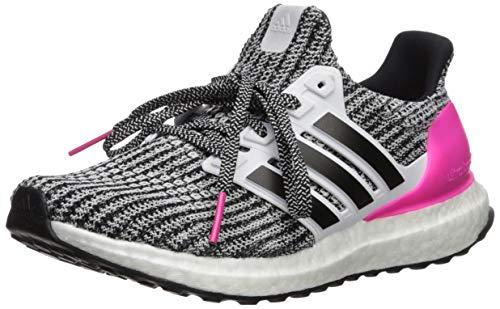 - adidas Unisex Ultraboost, White/Black/Shock Pink, 4 M US Big Kid
