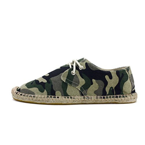 YOUJIA Mens Classics Espadrilles Camouflage Breathable Driving Shoes Slip on Flats Camouflage 7Py7AsuRJ