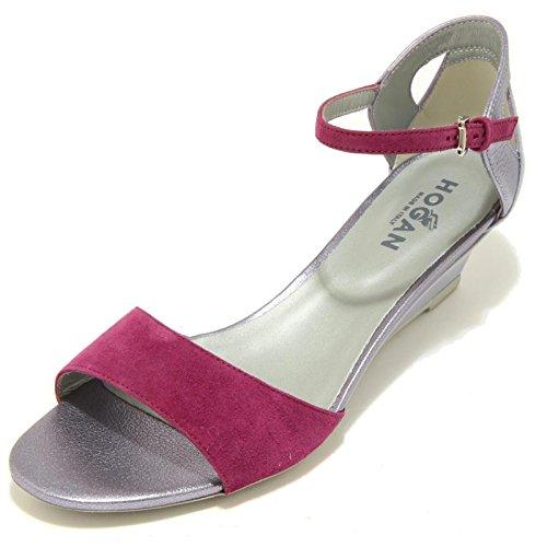 7046F sandalo HOGAN ZEPPA H 230 FASCIA DAVANTI CINTURINO scarpa donna shoes wome lilla/viola