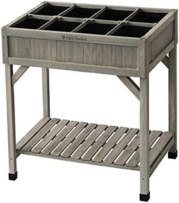 VegTrug Planter 8 Pocket Herb Garden Grey Wash