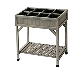 VegTrug Planter 8 Pocket Herb Garden Grey Wash 18 Grow 8 different herbs in the pockets to prevent Excessive growth Easy to build comes flat pack Easy working height no more bending or kneeling