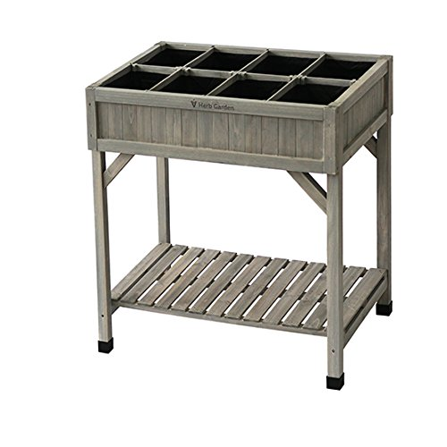 Vegtrug RHP6007GW USA Planter 8 Pocket Herb Garden Grey Wash