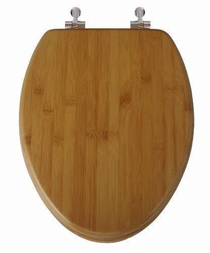 TOPSEAT Native Impression Elongated Toilet Seat w/ Brushed N