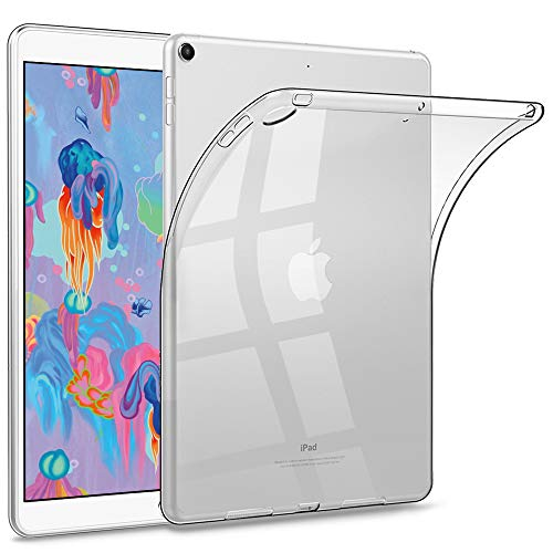 HBorna iPad 9.7 Clear Case for iPad 2018/2017 Model, 6th/5th Generation iPad case, Ultra Slim Transparent Soft TPU Rubber Silicone Back Cover Skin for Apple iPad 9.7 Inch (iPad 5, ()