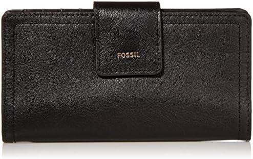 Fossil Women's Logan Leather RFID-Blocking Tab Clutch Wallet
