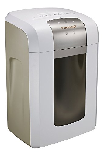 Bonsaii 4S23 8-Sheet Micro-Cut Shredder P-5 Security, Thermal Protection 6 Gallons Wastebasket, 4 Casters with 120 Minutes Running Time (Embassy Stands Collection)