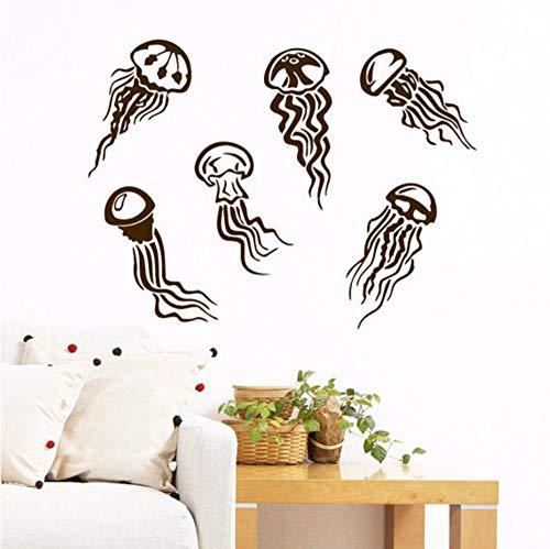 yongkuiniubi Little Jellyfishes Deep Sea Scuba Ocean Home Kids Bedroom Fashion Decor Vinyl Wall Mural Marine Animal Series Wall Sticker5676CM