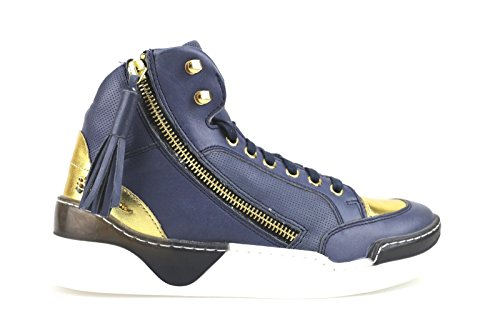 BRACCIALINI sneakers Blue Leather AH383 (5 US / 35 EU)