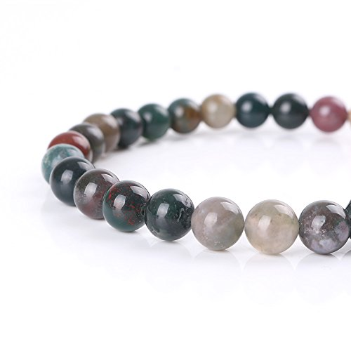 Mallofusa Mix Color Round Artificial Agate Loose Beads for Jewelry Making, Gemstone Beads (Mix Gemstone Round Bead)