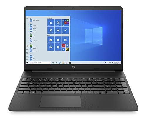 HP 15s-fq1019ne Laptop, 15 inches HD, 10 Gen Intel® Core™ i3 processor, 4GB RAM, 256GB SSD, Intel UHD Graphics, Windows 10 Home, EN-AR KB, Black - Middle East Version