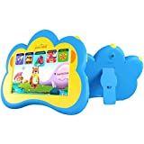 "Kids Tablet, B.B.PAW 7"" Eye-Protection Whole Brain Education Gifts Tablet for Kids 2 to 6 Years Old with 90+ Preloaded Learning and Training Apps-Sky Blue"