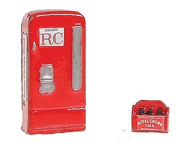 - HO Scale Upright Soda Machine w/Case -- Royal Crown RC Cola