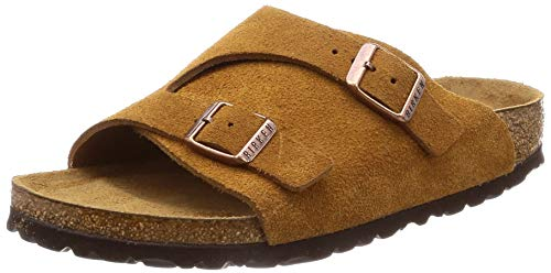 (Birkenstock Zürich Suede Leather Soft-Footbed Narrow Mink Size EU 38 - US L7 M5)