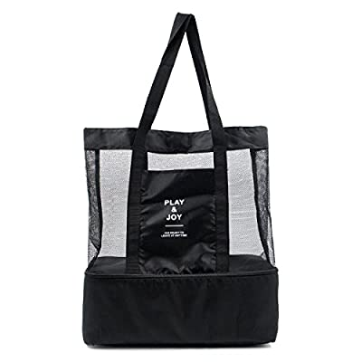 BURUIS Beach Tote Bag with Zipper Closure and Insulated Picnic Cooler for Outing,Travel.