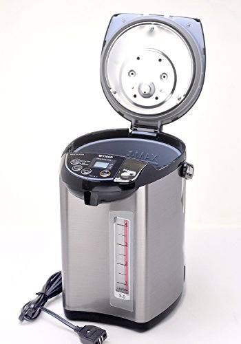 Tiger PDU-A50U-K Electric Water Boiler and Warmer, Stainless Black, 5.0-Liter by Tiger Corporation (Image #1)