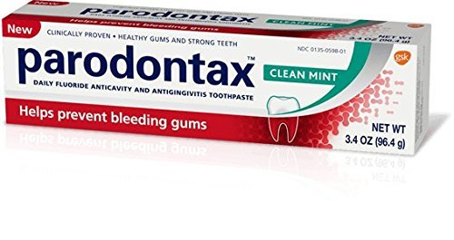 Parodontax Clean Mint Daily Toothpaste, 3.4 oz. Per Tube (2 Pack)