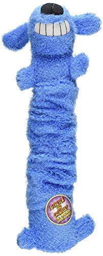 Multipet Bungee Scrunchy Loofa Squeak Dog Toy, 12-Inch, Asso