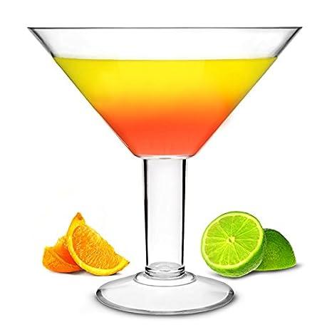 Copa de cóctel acrílica Grande Acrylic Martini Glass, 2Ltr – 25 cm, ideal como centro de mesa.: Amazon.es: Hogar