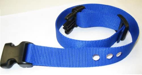 Grain Valley 1 Replacement Strap, Color Blue. Sold Per Each. Fits Most PetSafe Bark Collars and Many Containment Collars. No-Bark Collars Accessories by Generic